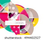 round shapes  vector circle... | Shutterstock .eps vector #494402527