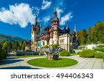 Peles Castle Sinaia In Autumn...