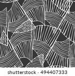 wavy trapezoids white on black...   Shutterstock .eps vector #494407333