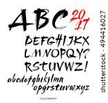 vector acrylic brush style hand ... | Shutterstock .eps vector #494416027