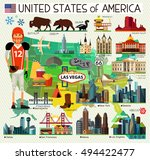 vector set of various united... | Shutterstock .eps vector #494422477