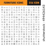 furniture line icon set.... | Shutterstock .eps vector #494426143