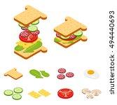 set vector constructor... | Shutterstock .eps vector #494440693