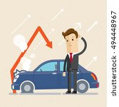 insurance  concept. upset man... | Shutterstock .eps vector #494448967