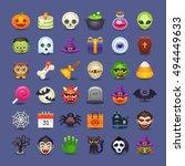 cute halloween icons | Shutterstock .eps vector #494449633
