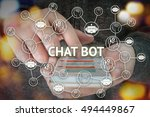 chat bot and future marketing... | Shutterstock . vector #494449867