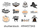 happy halloween overlays ... | Shutterstock .eps vector #494457343