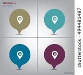 shoping bag pins | Shutterstock .eps vector #494481487