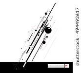 diagonal lines forming a sleek  ... | Shutterstock .eps vector #494492617