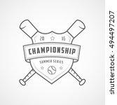 baseball championship emblem... | Shutterstock .eps vector #494497207