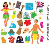 hawaii object illustration | Shutterstock .eps vector #494531047