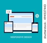 responsive design vector icon ... | Shutterstock .eps vector #494537443