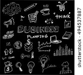 business idea doodles icons set.... | Shutterstock .eps vector #494537887