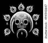 mystic symbols set. graphic...   Shutterstock . vector #494543647
