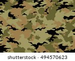 camouflage pattern made with... | Shutterstock .eps vector #494570623