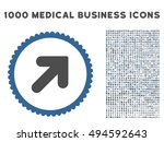 arrow up right icon with 1000... | Shutterstock .eps vector #494592643