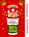 christmas sale promotion poster ... | Shutterstock .eps vector #494595223