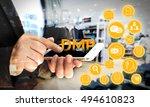 data management platform  dmp ...   Shutterstock . vector #494610823