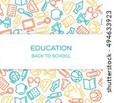 education vector background... | Shutterstock .eps vector #494633923