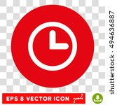 clock round icon. vector eps...