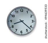 realistic clock vector...   Shutterstock .eps vector #494639533