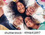 young people with their heads... | Shutterstock . vector #494641897