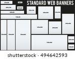 standard size vector web... | Shutterstock .eps vector #494642593
