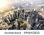 shanghai city network... | Shutterstock . vector #494642833