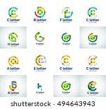 set of letter logo icons ... | Shutterstock . vector #494643943