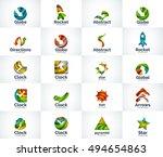 set of abstract unusual... | Shutterstock . vector #494654863