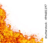 abstract fire flames background ... | Shutterstock . vector #494681197