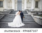 wedding in a beautiful location.... | Shutterstock . vector #494687107