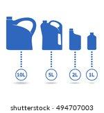 plastic canisters blue set.... | Shutterstock .eps vector #494707003