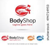 body shop logo template design... | Shutterstock .eps vector #494714953