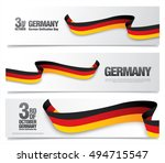 german unification day  ... | Shutterstock .eps vector #494715547