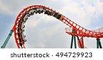 rollercoaster ride | Shutterstock . vector #494729923