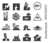 earthquake icon set