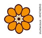 beautiful flower cute icon... | Shutterstock .eps vector #494748943