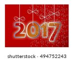 2017 is coming  concept image... | Shutterstock . vector #494752243