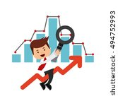 search engine optimization flat ... | Shutterstock .eps vector #494752993