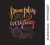 vector hand drawn calligraphy... | Shutterstock .eps vector #494766667