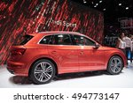 Small photo of PARIS, FRANCE - OCTOBER 6, 2016: The all-new Audi Q5 is revealed at the Paris motor show. The first-gen models racked up 1.6million global sales, making it the worldâ??s most successful premium SUV.