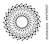 design pattern dots vector | Shutterstock .eps vector #494790937