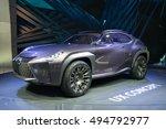 lexus ux crossover concept car...   Shutterstock . vector #494792977