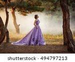 Lady In A Luxury Lush Purple...