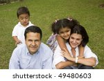 portrait of family  mom and dad ... | Shutterstock . vector #49480603