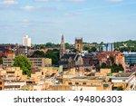 nottingham skyline. england  uk. | Shutterstock . vector #494806303