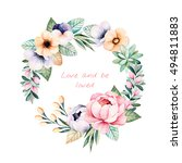 colorful floral pastel template ...   Shutterstock . vector #494811883