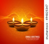abstarct happy diwali background | Shutterstock .eps vector #494825347