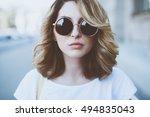 street fashion concept   pretty ...   Shutterstock . vector #494835043